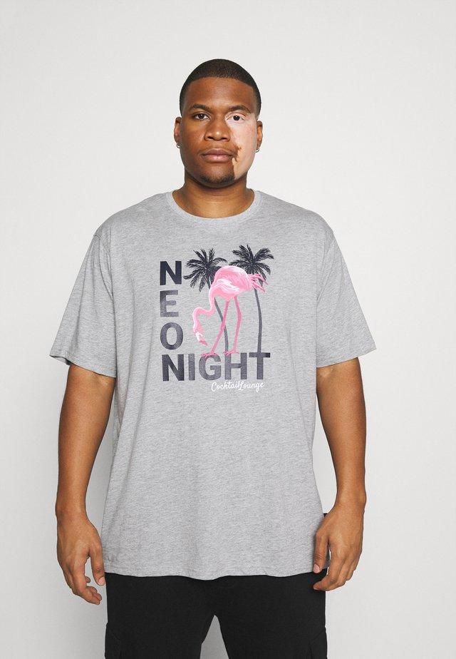 PRINT TEE - T-shirt z nadrukiem - grau