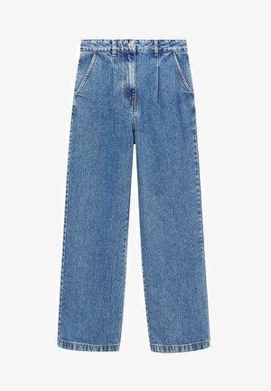 LAILA-I - Straight leg -farkut - middenblauw