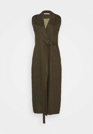 WRAPED UP - Maxi šaty - army
