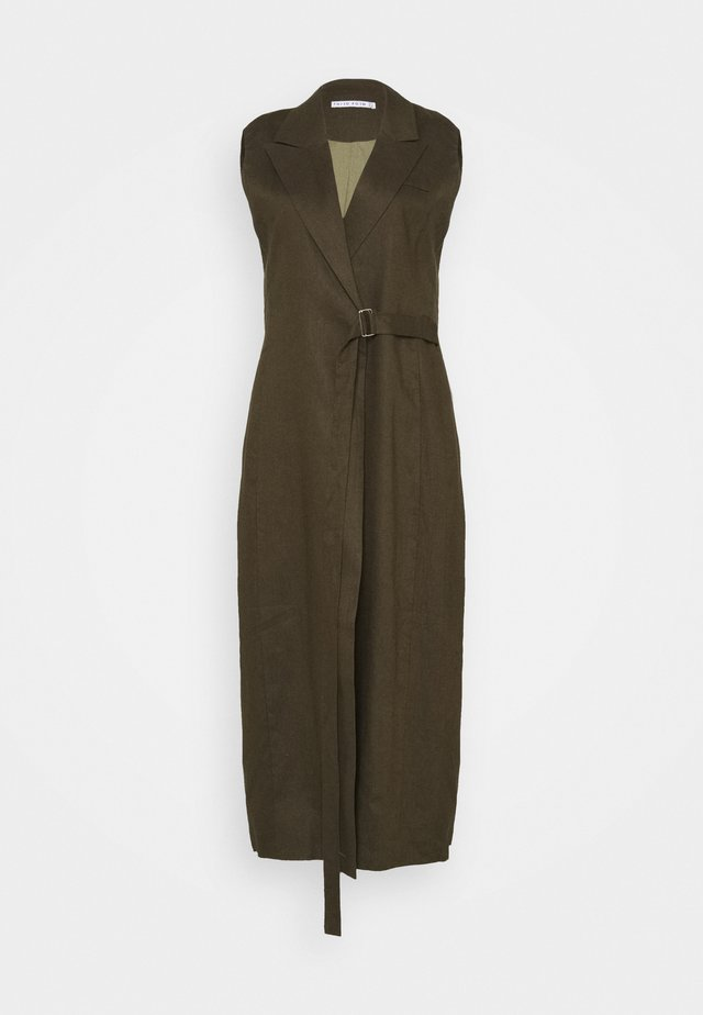 WRAPED UP - Maxi dress - army