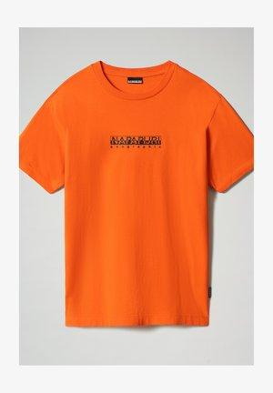 S-BOX   - T-shirt imprimé - orangeade