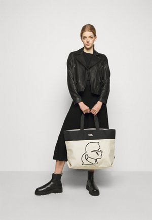 EXCLUSIVE IKONIK WITH HANDLES - Tote bag - off-white