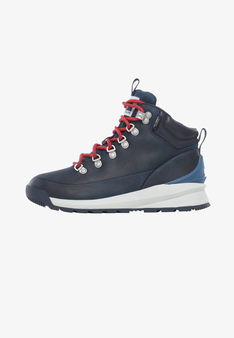 The North Face - W BACK-TO-BERKELEY MID WP - Hiking shoes - blue opal/hibiscus