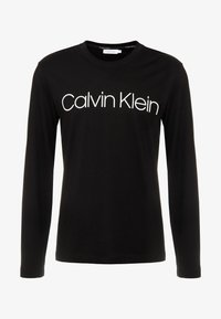 Calvin Klein - LOGO LONG SLEEVE  - T-shirt à manches longues - black - 4