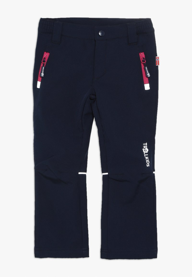 TrollKids - KIDS FJELL PANT - Outdoor trousers - navy/magenta