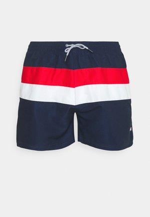 FILIPPO BLOCKED SWIM - Swimming shorts - black iris/true red/bright white