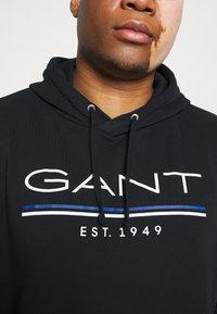 GANT - HOODIE - Sweatshirt - black - 5