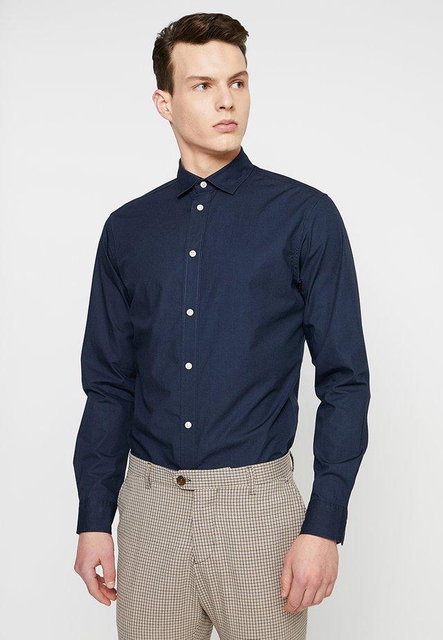 SLHSLIMMARK WASHED - Formální košile - navy blazer