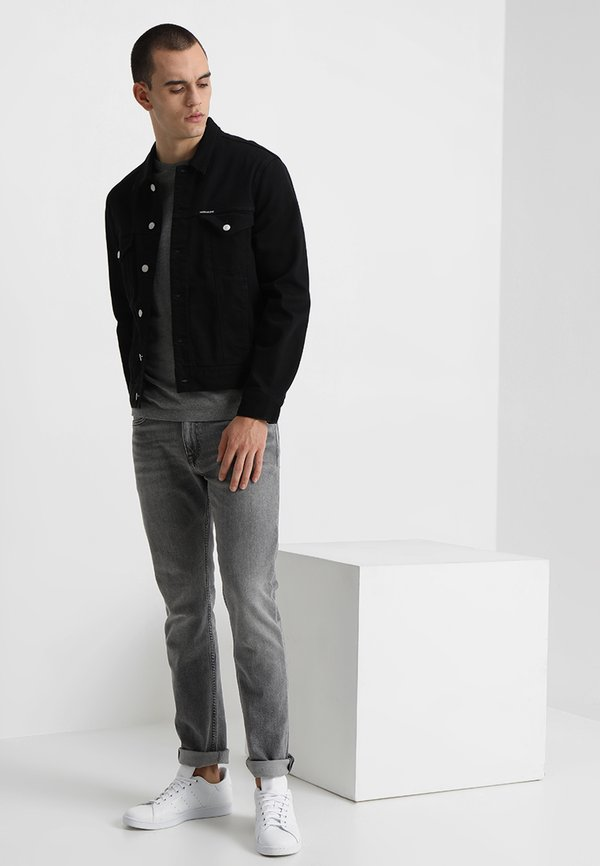 Calvin Klein Jeans SMALL INSTIT LOGO CHEST TEE - T-shirt basic - grey/szary melanż Odzież Męska WDQC