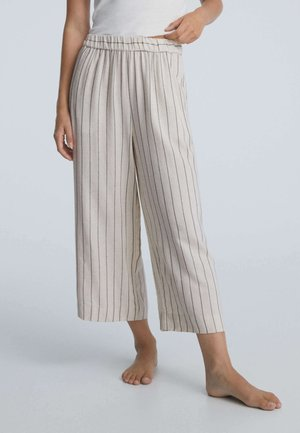 METALLIC STRIPE  - Pyjama bottoms - beige