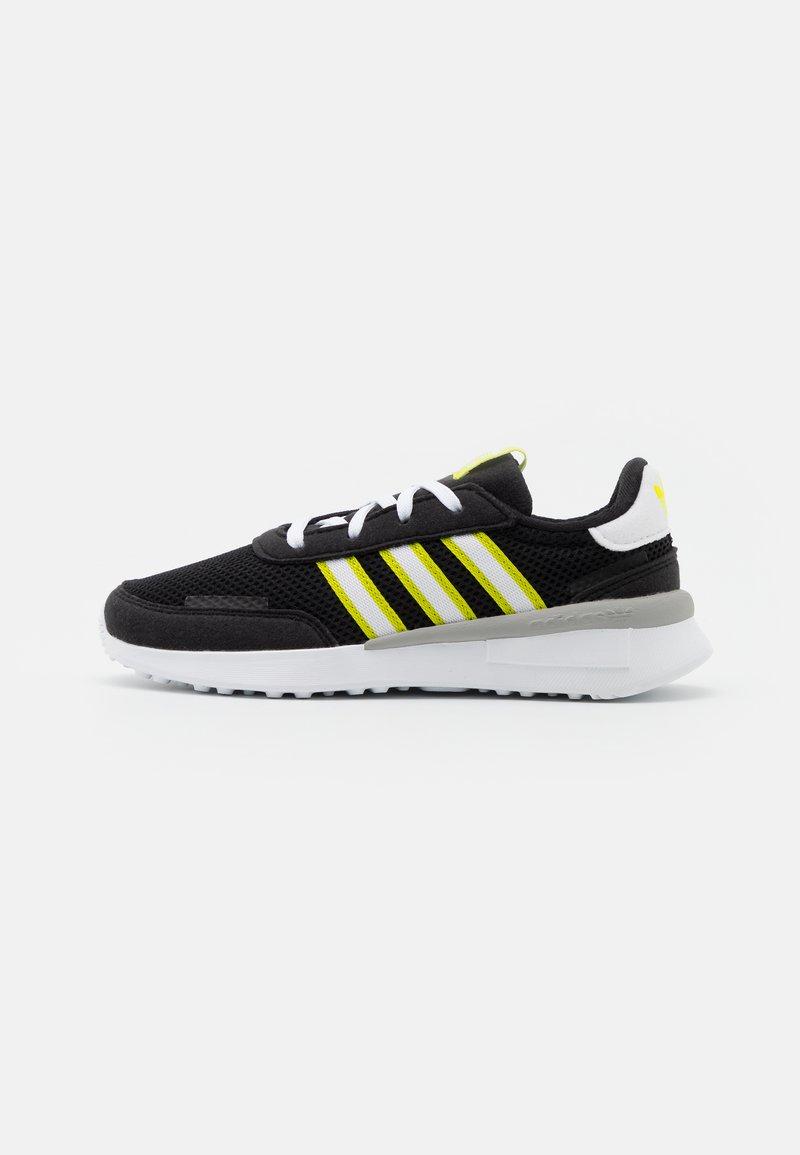 adidas Originals - RETROSET RUNNING INSPIRED SHOES - Trainers - core black/footwear white/semi solar yellow