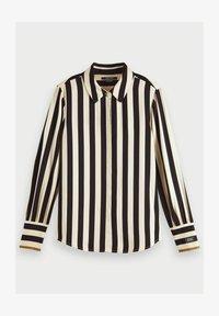 Scotch & Soda - Button-down blouse - black/off-white - 4
