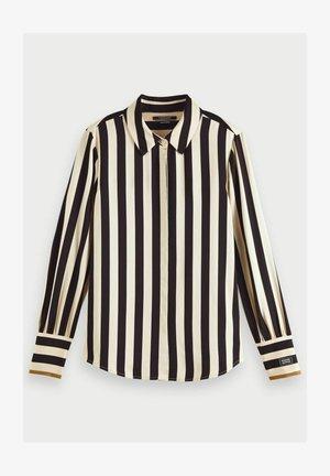 Button-down blouse - black/off-white