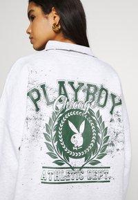 Missguided - PLAYBOY VARISTY DRESSES - Vestido informal - grey marl - 3