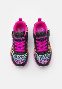 Skechers - HEART LIGHTS - Trainers - black/multicolor - 3