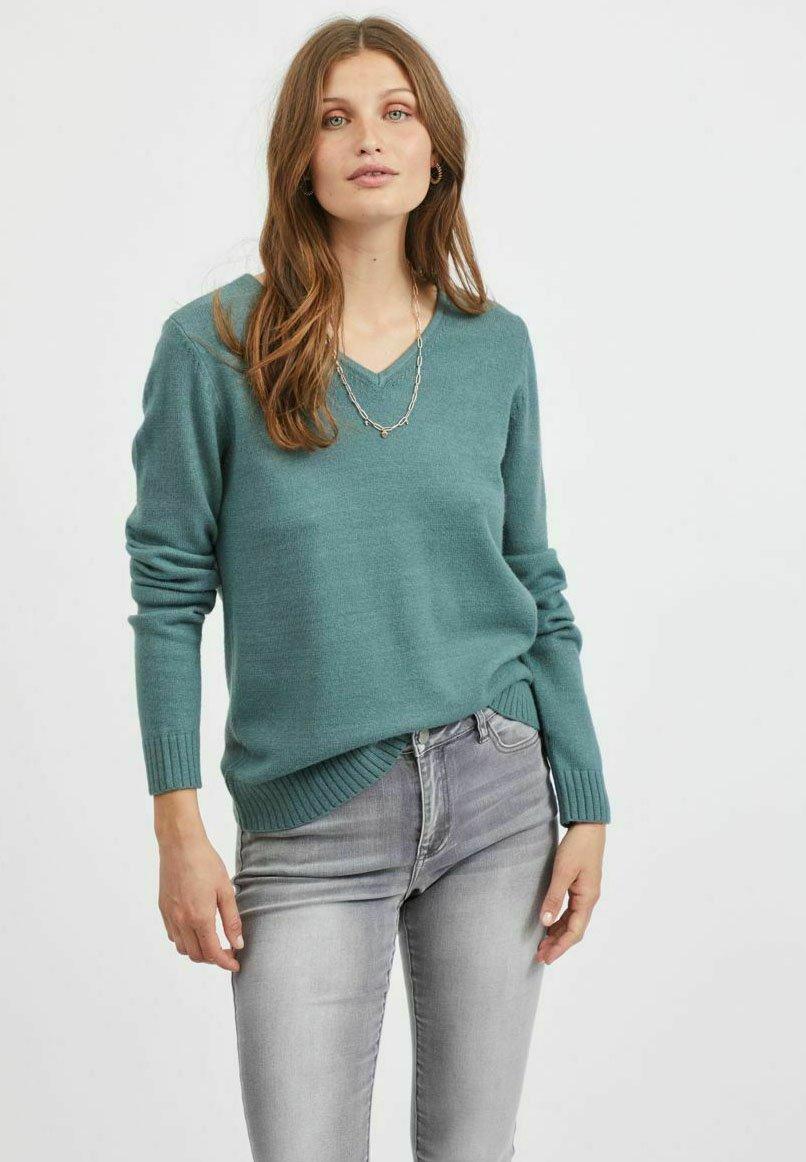 Femme VIRIL V-NECK L/S  - Pullover