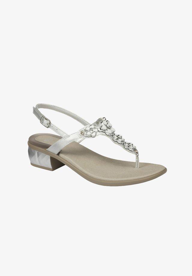 T-bar sandals - silber