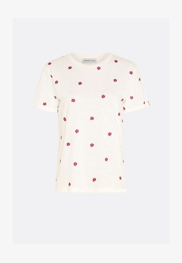 PHIL FLOWER - T-shirt print - cream white