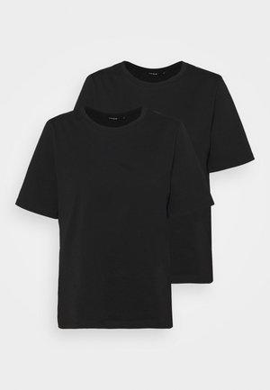 ONLONLY LIFE NOOS 2 PACK - Basic T-shirt - black/black