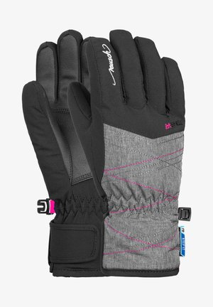 AIMÉE JUNIOR - Gloves - black grey melan pink glo