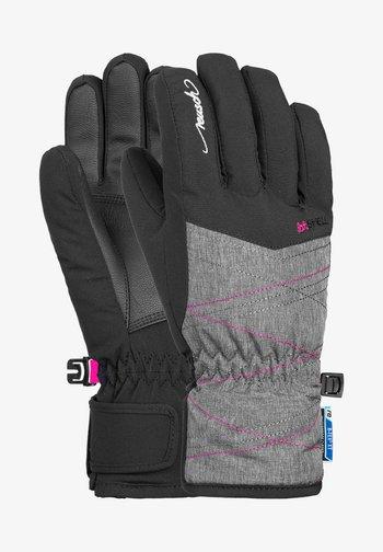 AIMÉE JUNIOR - Gloves - black grey melan pink glo