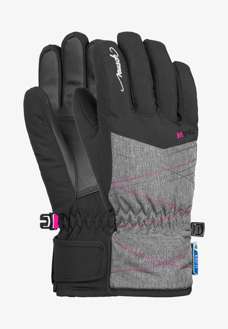 Reusch - AIMÉE JUNIOR - Gloves - black grey melan pink glo