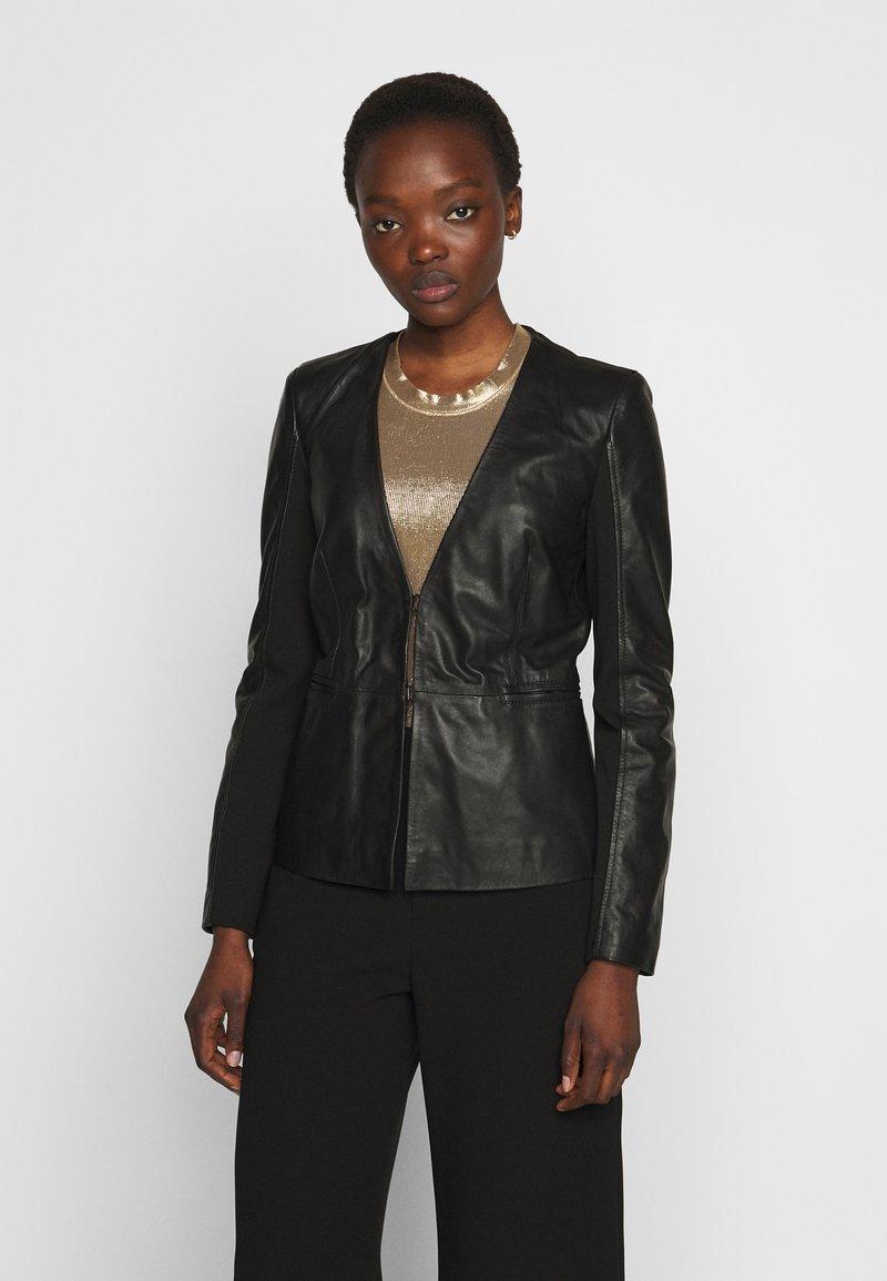 Pinko - BRADLEY JACKET - Leather jacket - black