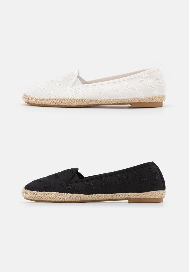 2 PACK - Espadrilky - white/black