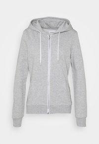 Even&Odd - Regular Fit Zip Sweat Jacket Contrast Cord - Hettejakke - mottled light grey - 3
