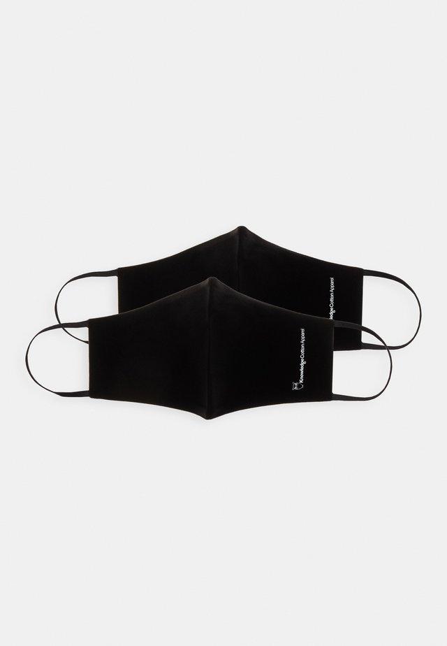 FACE MASK 2 PACK UNISEX - Masque en tissu - black