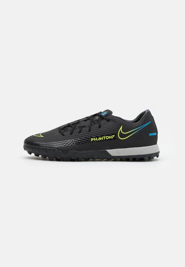 PHANTOM GT ACADEMY TF - Voetbalschoenen voor kunstgras - black/cyber/light photo blue