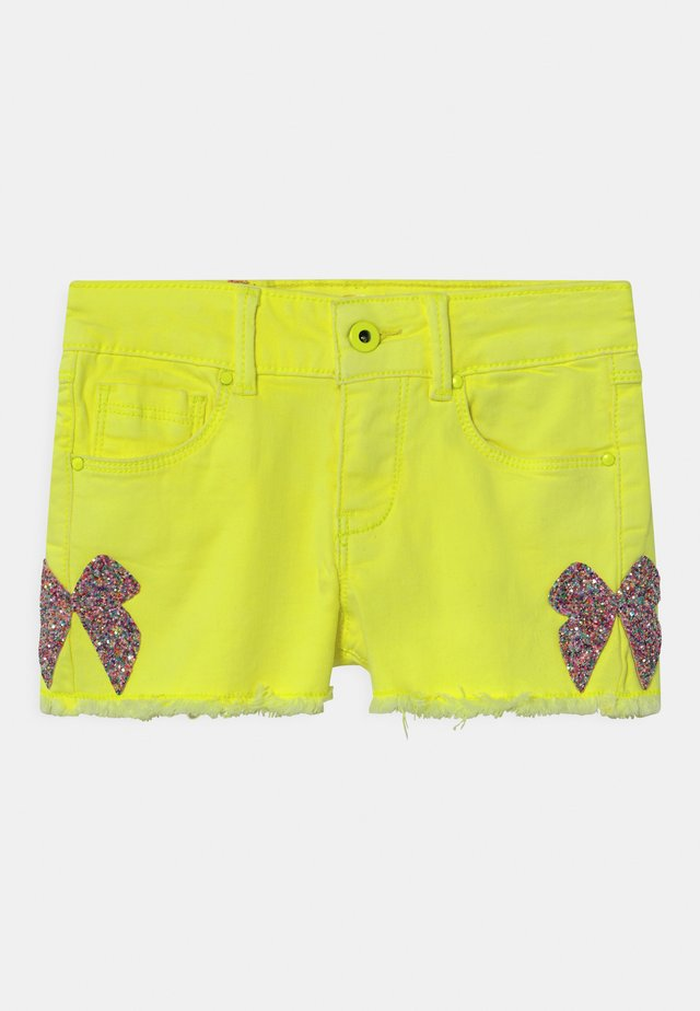Denim shorts - jaune fluo