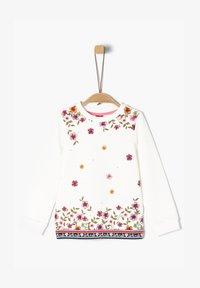 s.Oliver - MIT FLORALEM PRINT - Sweatshirt - cream - 0
