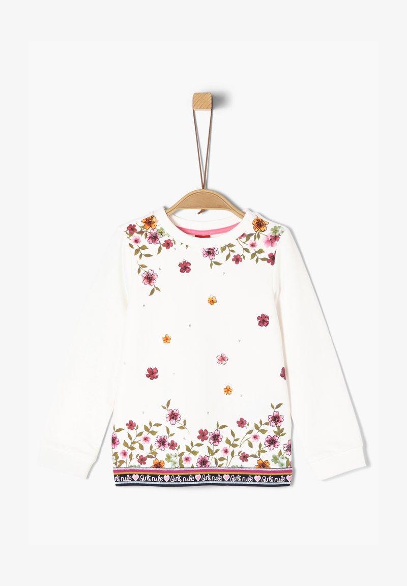 s.Oliver - MIT FLORALEM PRINT - Sweatshirt - cream