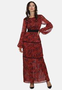 faina - Maxi dress - roter blumen print - 1