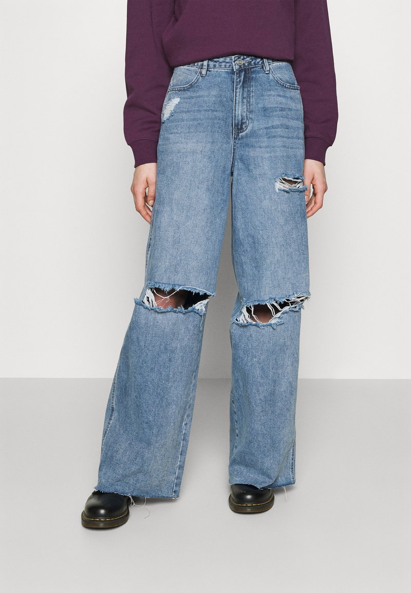 Missguided - KNEE  RIP BAGGY BOYFRIEND - Relaxed fit jeans - blue