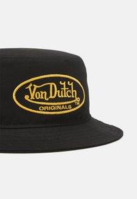 Von Dutch - BUCKETOVAL LOGO UNISEX - Hatt - black - 3