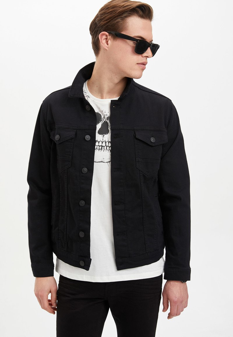 DeFacto - Denim jacket - black