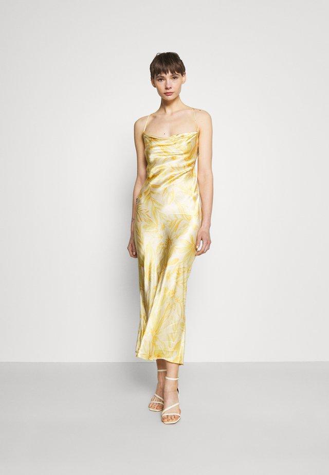 TROPICAL PUNCH MIDI DRESS - Suknia balowa - yellow