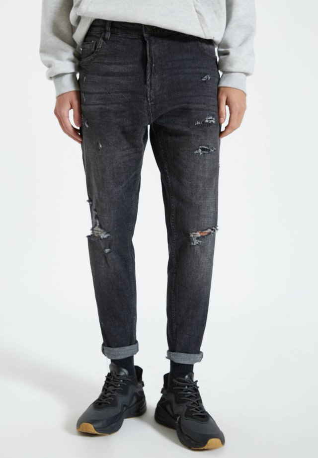 Jeansy Relaxed Fit - grey