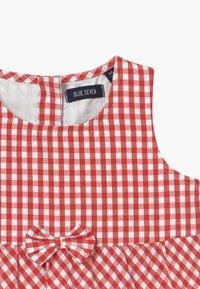 Blue Seven - SMALL GIRLS TIERD CHECK - Shirt dress - hochrot - 2