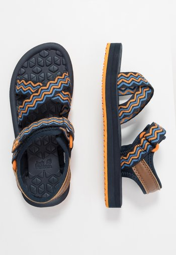 ZULU - Walking sandals - blue/orange