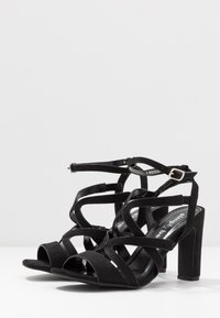 Simply Be - WIDE FIT GENEVA - High heeled sandals - black - 4