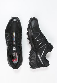 Salomon - SPEEDCROSS 4 - Vaelluskengät - black/black metallic - 1