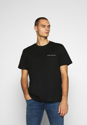 INTARSIA POCKET TEE - Print T-shirt - black
