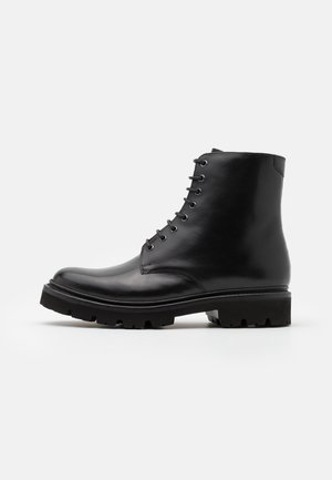 HADLEY - Bottines à lacets - black