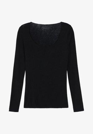 LANGARMSHIRT AUS CASHMERE ULTRALIGHT - Långärmad tröja - black