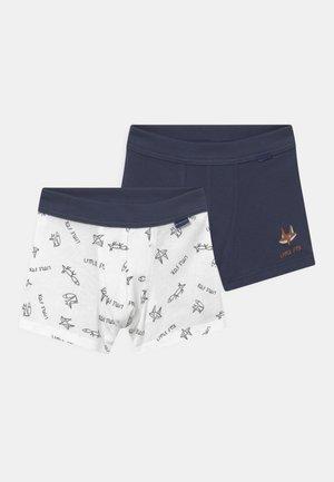 KIDS 2 PACK - Pants - white/blue