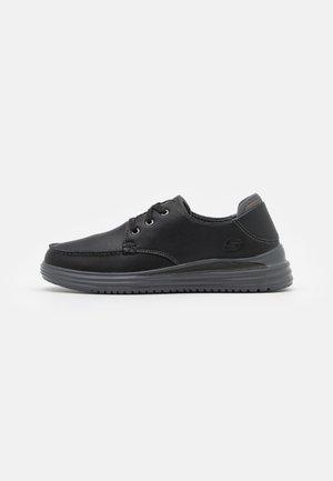 PROVEN - Šněrovací boty - black