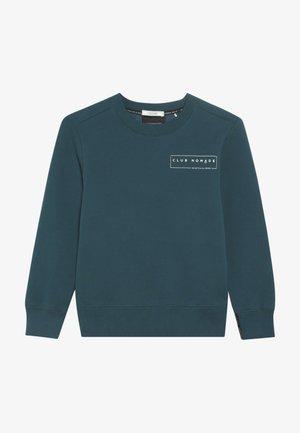 CLUB NOMADE BASIC CREW WITH ARTWORKS - Sweatshirt - teal green